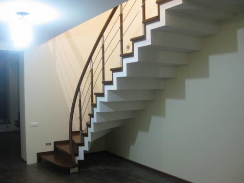 деревянные ступени для бетонной лестницы
