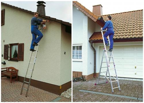 работа с приставными лестницами