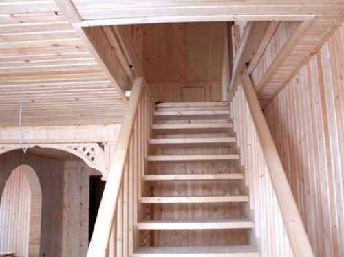 мансардная лестница для частного дома