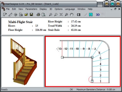 Программа для расчета лестницы