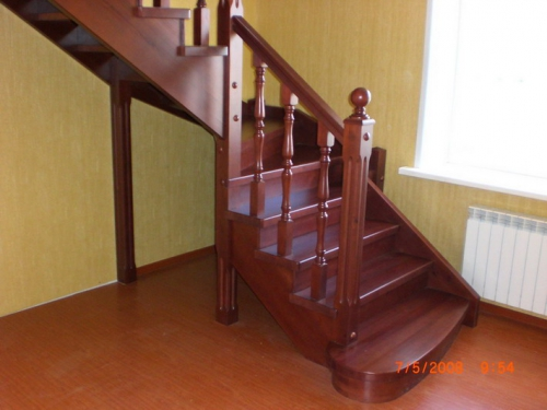 рассчитать лестницу с поворотом