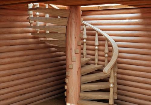 винтовая лестница на второй этаж эконом-класса