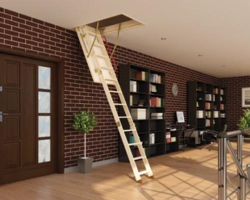 выдвижная лестница на чердак